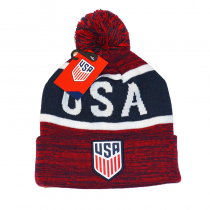 United States Adult's Pom Beanie USA