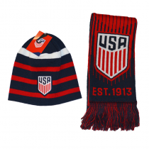 United States Adult's Reversible Scarf & Beanie Set
