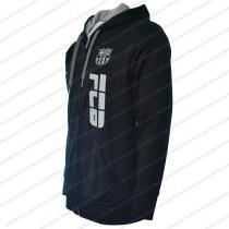 52b215a7b25 FC Barcelona Men s Adult Zip Up Jacket Black - Side Logo. Add to cart