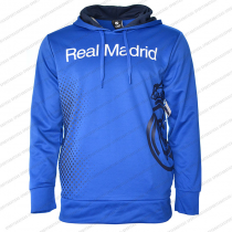 Real Madrid Men's Adult  Hoodie Blue Big Logo Bottom