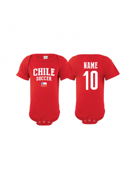 Chile flag world cup 2018 Baby Soccer Bodysuit, jersey t-shirts