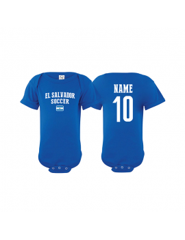 El salvador country Baby Soccer Bodysuit