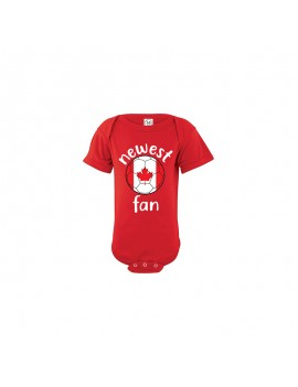 Canada Newest Fan Baby Soccer Bodysuit