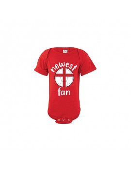 England Newest Fan Baby Soccer Bodysuit