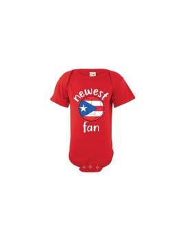 Puerto Rico Newest Fan Baby Soccer Bodysuit