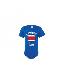 Costa Rica Newest Fan Baby Soccer Bodysuit