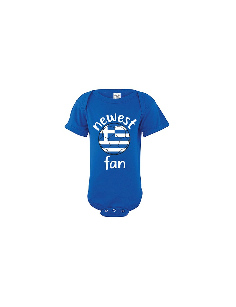 Greece Newest Fan Baby Soccer Bodysuit