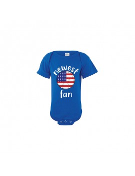 USA Newest Fan Baby Soccer Bodysuit