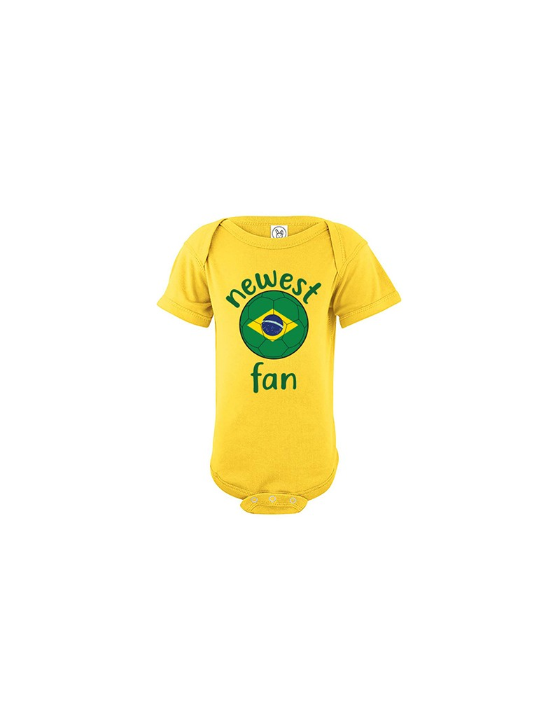 Brazil Newest Fan Baby Soccer Bodysuit