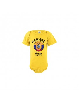 Ecuador Newest Fan Baby Soccer Bodysuit