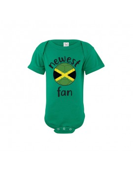 Jamaica Newest Fan Baby Soccer Bodysuit