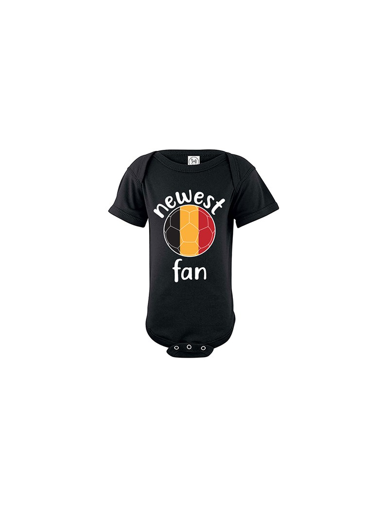 Belgium Newest Fan Baby Soccer Bodysuit