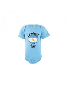 Argentina Newest Fan Baby Soccer Bodysuit