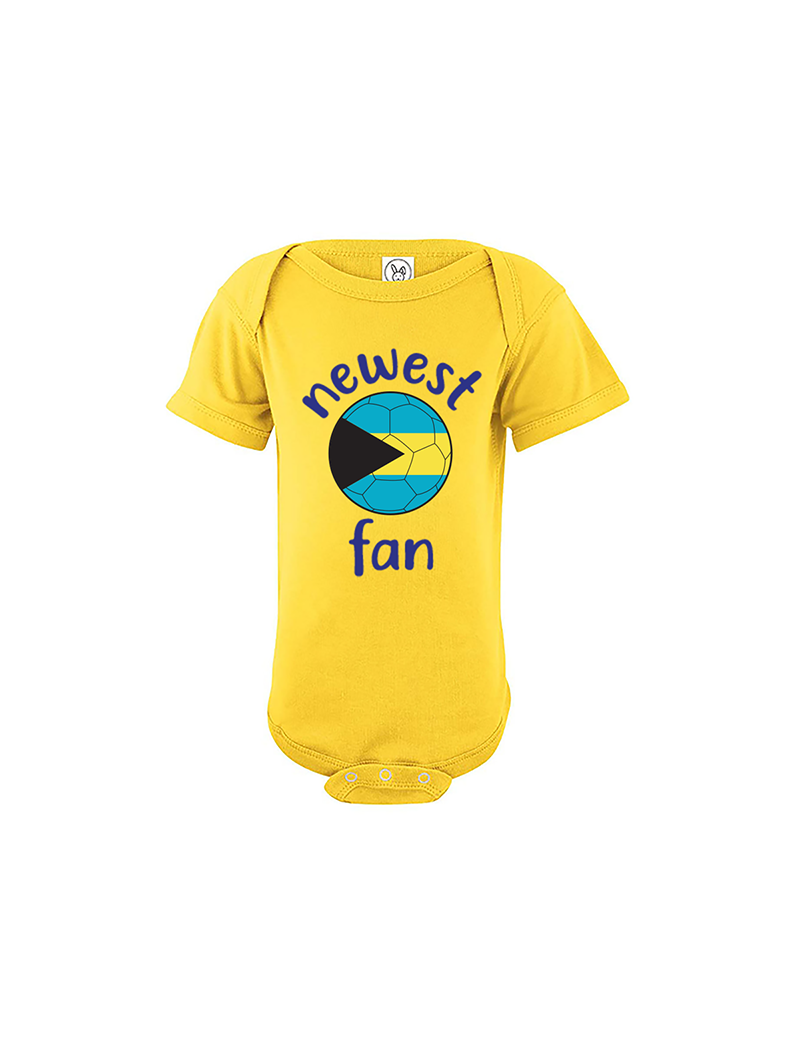 Bahamas Newest Fan Baby Soccer Bodysuit