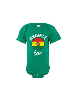 Bolivia Newest Fan Baby Soccer Bodysuit
