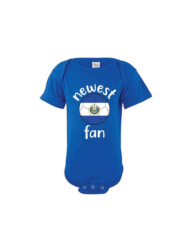 El Salvador Newest Fan Baby Soccer Bodysuit