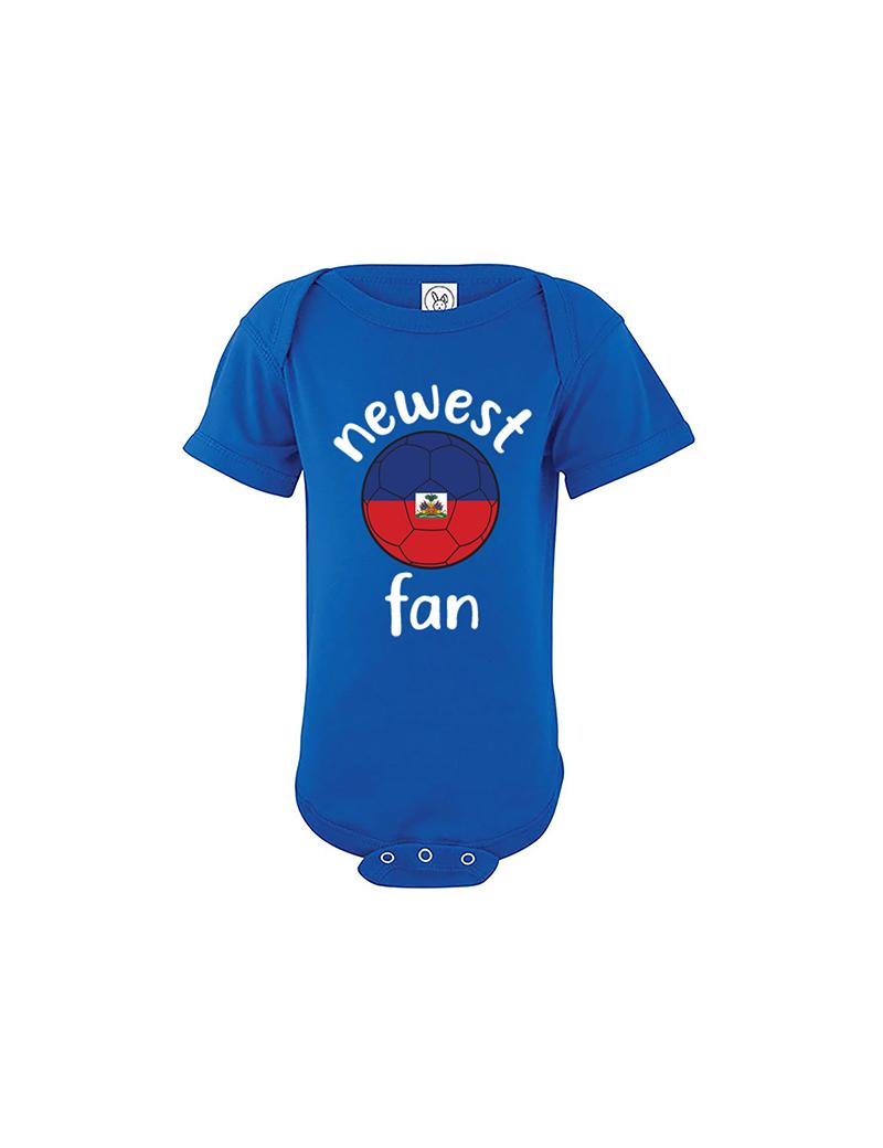 Haiti Newest Fan Baby Soccer Bodysuit