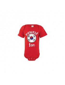 Korea Newest Fan Baby Soccer Bodysuit
