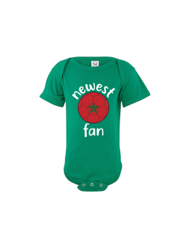 Morocco Newest Fan Baby Soccer Bodysuit