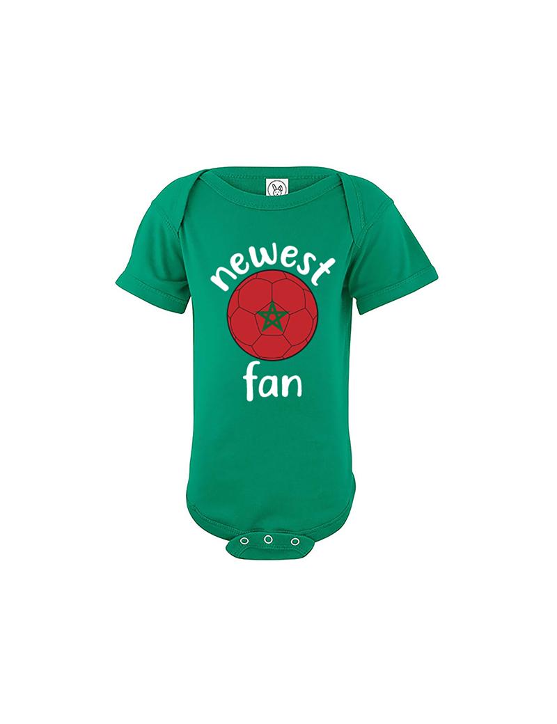 Morocco Newest Fan Baby Soccer Bodysuit