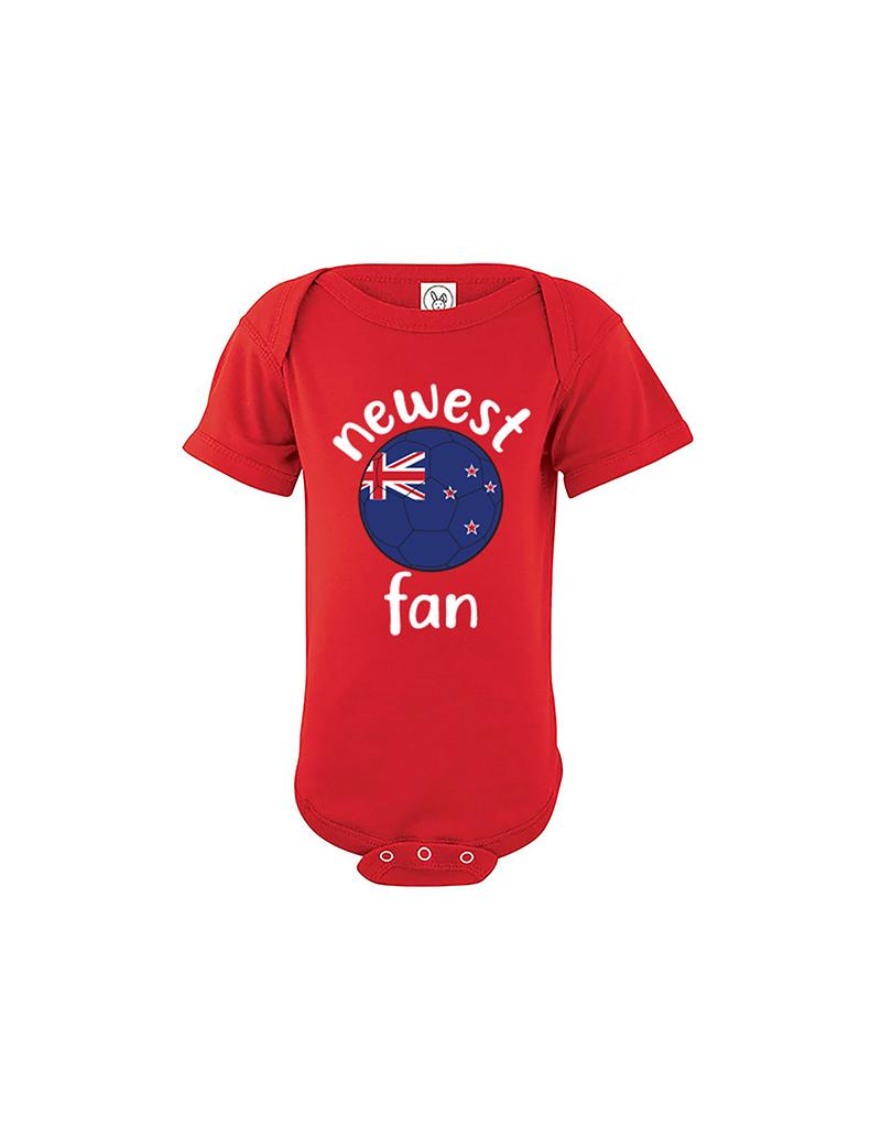 New Zealand Newest Fan Baby Soccer Bodysuit