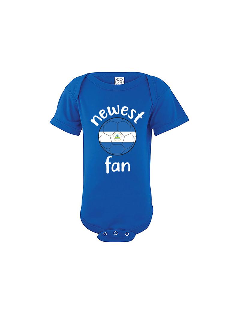 Nicaragua Newest Fan Baby Soccer Bodysuit