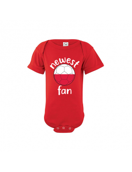 Poland Newest Fan Baby Soccer Bodysuit