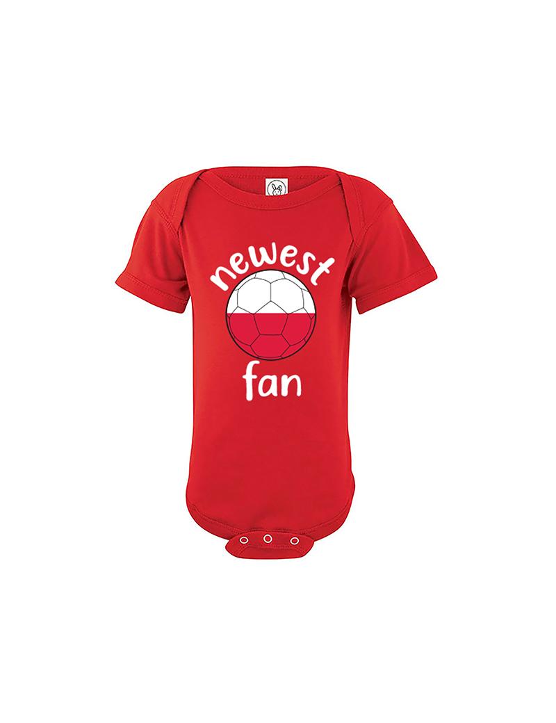 Poland Newest Fan Baby Soccer Bodysuit
