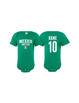 Mexico flag country world cup 2018  Baby Soccer Bodysuit, jersey, t-shirts