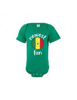 Senegal Newest Fan Baby Soccer Bodysuit