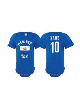 El Salvador Newest Fan Baby Soccer Bodysuit