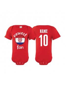 Croatia Newest Fan Baby Soccer Bodysuit