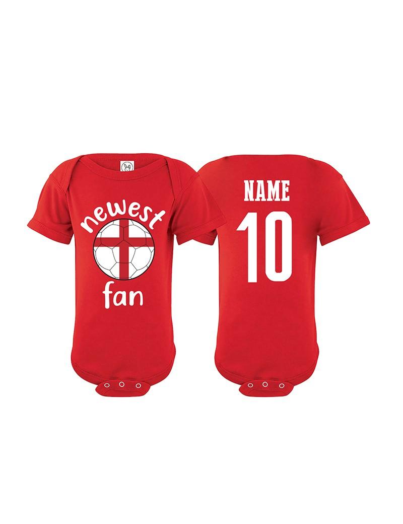 England Newest Fan Baby Soccer Bodysuit