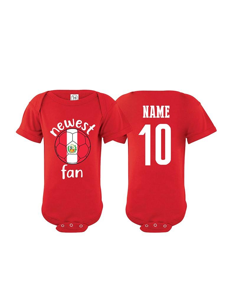 Peru Newest Fan Baby Soccer Bodysuit