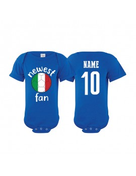 Italy Newest Fan Baby Soccer Bodysuit