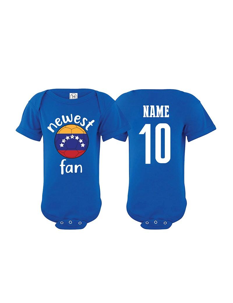 Venezuela Newest Fan Baby Soccer Bodysuit