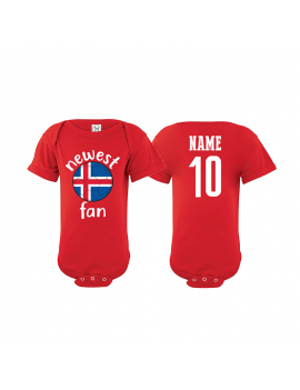Iceland Newest Fan Baby Soccer Bodysuit