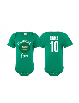Saudi Arabia Newest Fan World Cup Baby Soccer Bodysuit