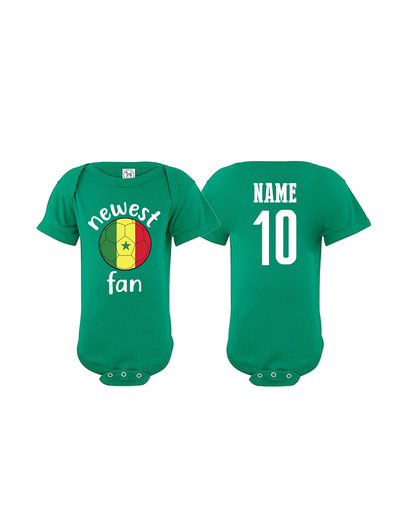 Senegal Newest Fan World Cup Baby Soccer Bodysuit