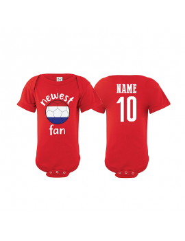 Russia Newest Fan World Cup Baby Soccer Bodysuit