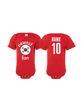 South Korea Newest Fan Baby Soccer Bodysuit