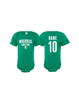 Nigeria world cup Baby Soccer Bodysuit JERSEY T-SHIRTS