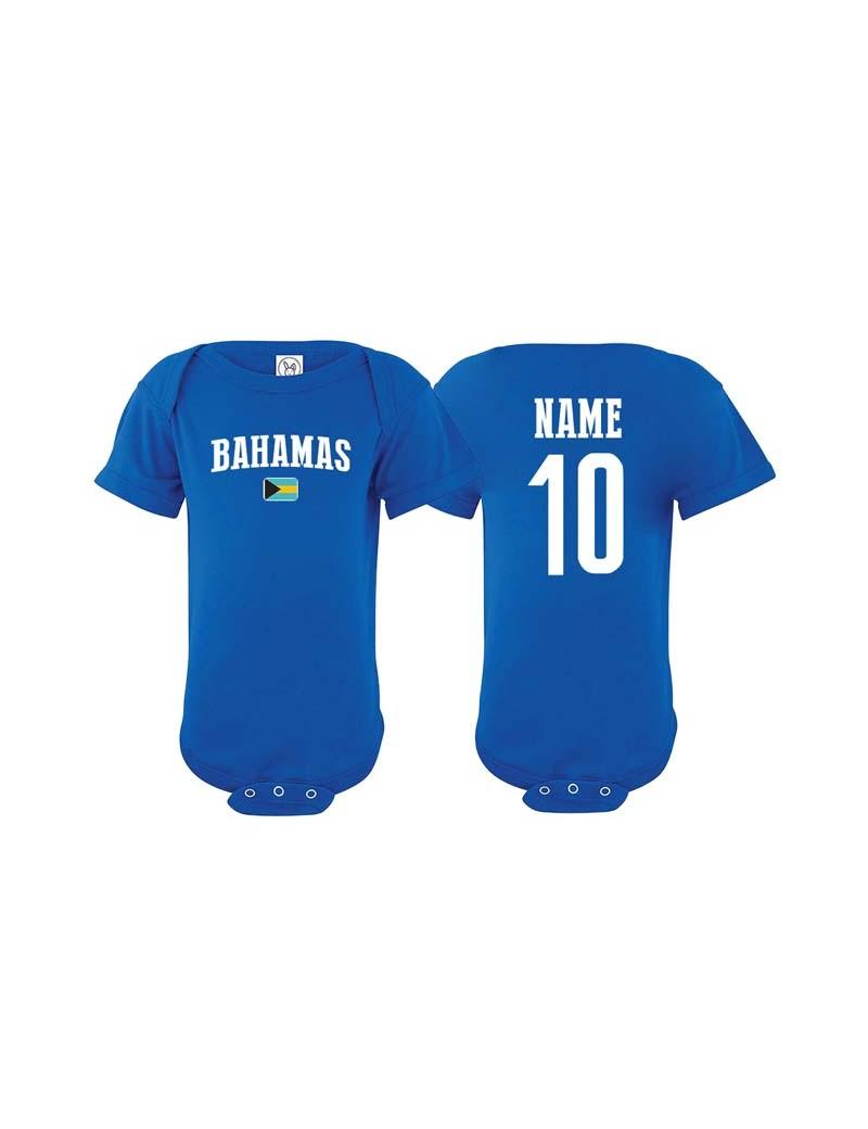 Bahamas flag world cup Baby Soccer Bodysuit