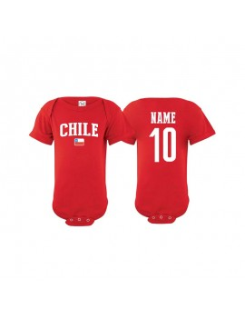 Chile flag world cup Baby Soccer Bodysuit