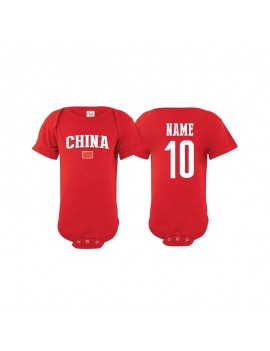 China flag world cup 2018 Baby Soccer Bodysuit, jersey t-shirts