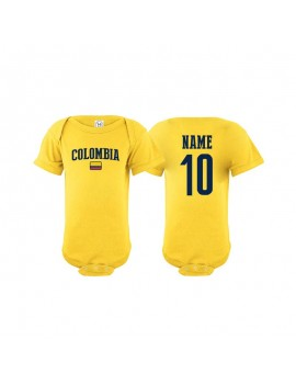 Colombia flag world cup Baby Soccer Bodysuit