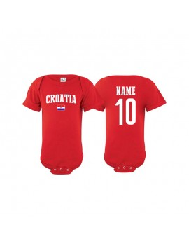 Croatia flag world cup Baby Soccer Bodysuit