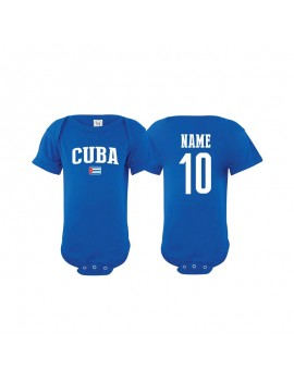 Cuba flag world cup Baby Soccer Bodysuit