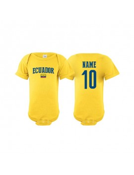 Ecuador flag country Baby Soccer Bodysuit jersey t-shirts