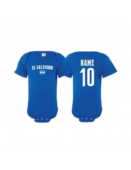 El salvador flag country Baby Soccer Bodysuit